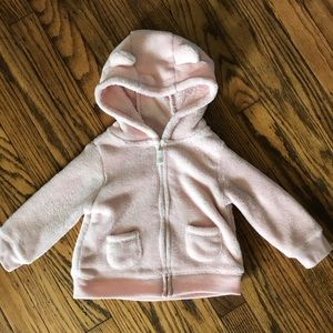 Hoodie with ears light blush pink